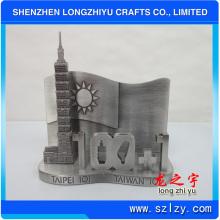 Custom Antique Silver Card Holder, 3D Zinc Alloy Metal Card Holder