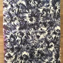 impressão da tela, 100% poliéster acolchoado tecido bordado para casaco de inverno