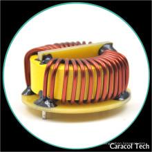 Choque toroidal de alta corriente Inductor de bobina de cobre con base para placa de circuito