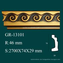 Hohe Dichte Antike Produkte PU dekorative Ecke Form für Decke Dekor