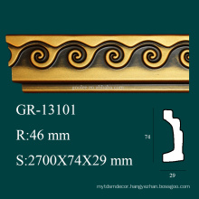 high density Antique products PU decorative corner molding for ceiling decor