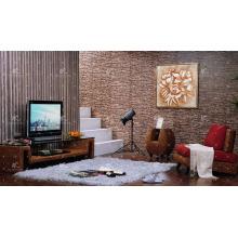 Cabinet de télévision Hyacinth Water Hyacint nouvelle conception (tissé à la main par l'osier, la jacinthe et le cadre en bois)