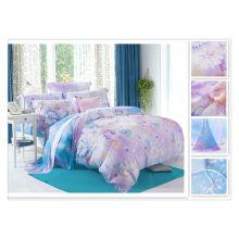 40 * 40s 133 * 72 impresión reactiva Purebest tencel conjunto de ropa de cama de seda