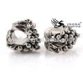 Perles en métal de mode avec argent antique plaqué pour bijoux faisant un trou de 4,5 mm pour des chaînes Nouveau design