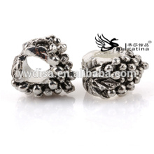 Moda Metal Beads Com Antique Silver Plated Para Jóias Fazendo Hole 4.5mm Para Cadeias Novo Design