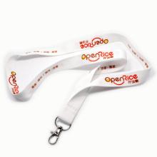 Lanières de polyester blanc de logo de Customzied pour l'exposition