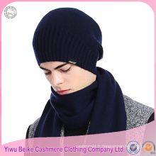 100% Cachemire kintted écharpe de chapeau stock