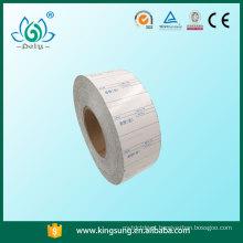 etiqueta sem liner, etiquetas de papel de cera