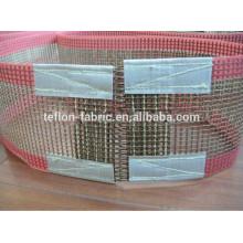 Correia transportadora longa durável da fibra de vidro do PTFE Teflon da venda com zipper