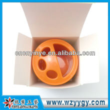 Bathroom ABS Plastic brush pot for gift promo with pvc cover