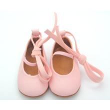 2016 zapatos de vestido únicos suaves al por mayor de la muchacha de los zapatos de cuero del bebé