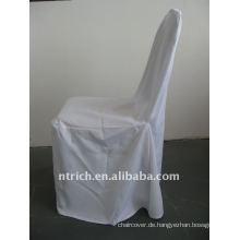 weiße Farbe Standard Bankett Stuhlabdeckung, CTV555 Polyester-Material, langlebig und leicht waschbar