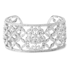 Alta calidad CZ 925 plata esterlina joyas pulseras de pun ¢ o de plata