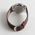 Moda quartzo homens relógios importação relógio movimento, aço inoxidável volta relógio