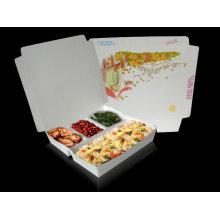 Grauer Kraft-Kuchen-Kasten / Kraftpapier-faltender Nahrungsmittelfall / Schnellimbiss-Kasten