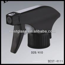 28/410 vaporisateur à gâchette en plastique noir, déclencheurs de flacons cosmétiques, pulvérisateur à pompe à parfum