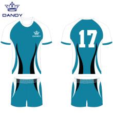 Uniforme de rugby polyester maillot de rugby personnalisé