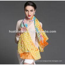 Bufanda de seda de seda del cuello de la seda de seda 100