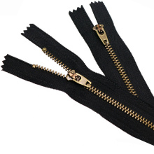 High Quality Custom Puller Golden Teeth Zipper For Pants