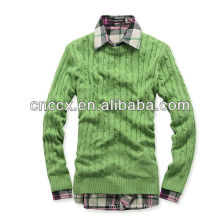 13STC5641 fashion cotton mens sweater jumper mens cotton cable knit sweater