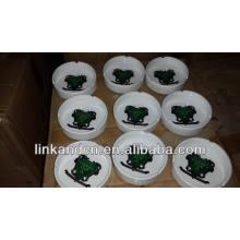 Haonai 2014 popular custom printing ceramic ashtray