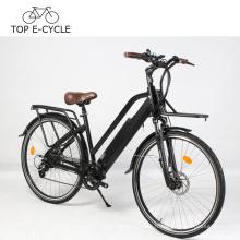 DIY E Vélo Vintage électrique ville vélo 700C vert puissance 48 V 14.5Ah Lithium Batterie Vélo Électrique