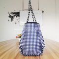 Plaid neoprene beach bag for lady