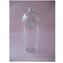 Botella de champú transparente de 400 ml sin bomba