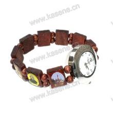 Neue Art-hölzerne Armband-Art- und Weisearmbanduhr mit Heiligem Bild