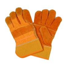 Cow Split Leather Work Glove, Safety Glove, CE Glove