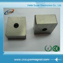 Strong permanent fritté Samarium Cobalt aimants SmCo bloc avec trou