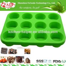 FDA molde de material de platino de silicona estándar con 12 agujeros