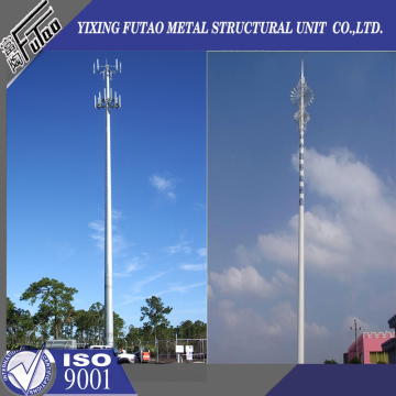 70FT 80FT Galvanized monopole steel pole