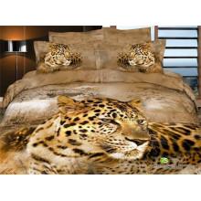 El leopardo que escucha pierde en los diseños del pensamiento diseños de la cama de la reina