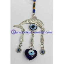 Evil Eye Beads Evil Eye with Lucky dolphin Amulet or Car Hanging Decoration Ornament