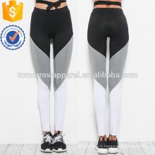 Colorblock Cut et Coudre Leggings Panel OEM / ODM Fabrication En Gros Mode Femmes Vêtements (TA7022L)