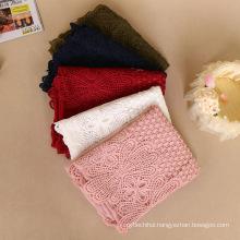 Premium shimmer gold stone wInter women fashion muslim cotton lace hijab scarf pashmina