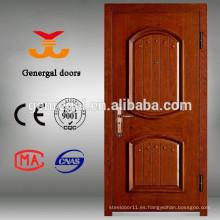 Puertas exteriores de madera con marco de acero