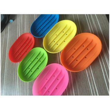 Slip-resistance Silicone Soap Racker Holder for Bathroom