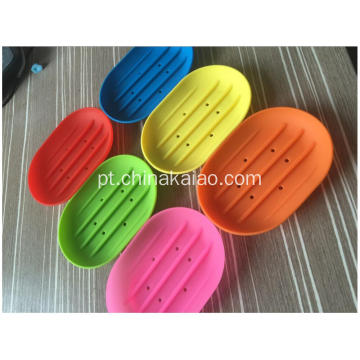 Red Green Pink Rack Atacado Soap Dishes Silicone Drainer