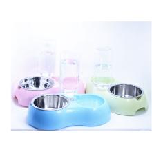 Système sain d'eau de chien et de chat de station d'eau d'animal familier avec le bol d'acier inoxydable