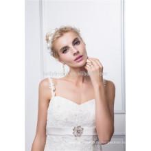 Spaghetti-Bügel Mieder nehmen Spitze-Hochzeitskleid an