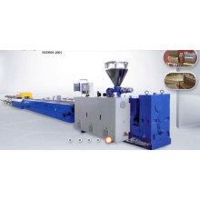 PP / PE et machine d'extrusion de profil composé en plastique en bois / faisant la machine