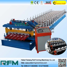 Roofing sheet glazed roof tile roll forming machine