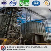 Estructura de armadura pesada de acero para soporte de tanque de planta química