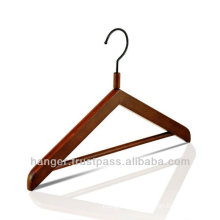 Antique Wooden Triangular Hanger with Pants Bar for Hotel Equipment