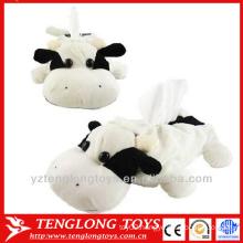 Cute plush animal tissue paper box