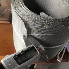 Engranzamento de fio tecido frisado de aço inoxidável