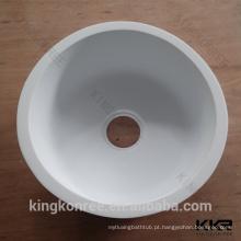 pia de cozinha de superfície contínua acrílica redonda