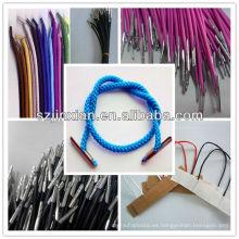 Cable con extremo de plástico / cordón trenzado con clips / cordón trenzado con lengüeta